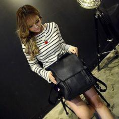 Hot Women Canvas PU Backpack Rucksack Satchel Bookbag laptop shoulder travel Bag #New #Backpack