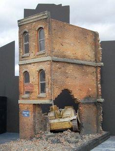 diorama brick ruins