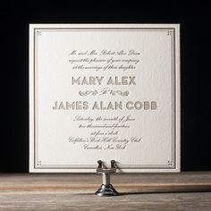 Our wedding invitations: True Vintage by Ellie Snow for Bella Figura