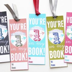printable valentine bookmarks for teachers and students or even your librarians ! ;) free printable valentines for Valentine's Day - easy to do and easy to give while still being thoughtful and homemade handmade DIY bookmark craft ideas for kids