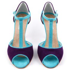 purple and turquoise shoes Tango Shoes, Dancing Shoes, Me Too Shoes, Women's Shoes, Alternative Wedding Shoes, Beauty Tips, Beauty Hacks, Turquoise Shoes, My Favorite Color
