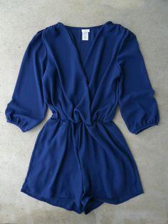 Coronado Romper in Navy [5591] - $36.00 : Vintage Inspired Clothing & Affordable Dresses, deloom | Modern. Vintage. Crafted.