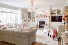 A beautiful vintage glam home tour, set in Minnesota. There is so much to see in this home including a mix of vintage glam, farmhouse chic. Vintage Glam, White Washed Furniture, French Furniture, Pastel Home Decor, Living Room Decor Inspiration, New Countertops, Simply Shabby Chic, Farmhouse Chic, Country Farmhouse