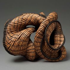 """70 Likes, 2 Comments - Rooted, Revived, Reinvented (@americanbasketry) on Instagram: """"Peggy Wiedemann⠀ Exploring Too, 2006⠀ Pine needles, Irish waxed linen: 8″ x 11″ x 9″⠀ Lent by the…"""""""