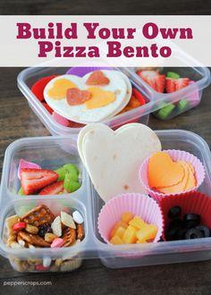 Valentine Build Your Own Pizza Bento Lunch | Pepper Scraps