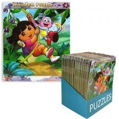 Puzzle madera de #DoraExploradora surtido 25pz, por sólo 1.74€!