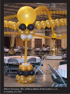 A #balloon #canopy is perfect for decorating the dance floor at #prom and other formal events. Design by Allison Dunning, CBA, of Merry Makers & Decorators L.L.C. in Greeley, CO, USA. Find a balloon professional near you: http://www.qualatex.com/balloons/findapro.php