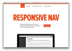 A Truely Simple JavaScript Plugin For Responsive Navigation