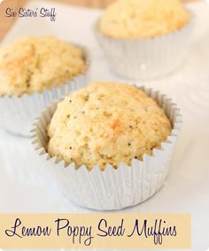 Lemon Poppy Seed Muffins Recipe from SixSistersStuff.com.  Perfect for breakfast or a snack! #sixsistersstuff
