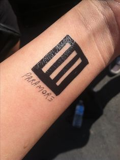 Temporary Paramore tattoo. They were handing them out at the tailgating thing before the show