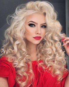 Gorgeous Blonde Curls #curls #curlyhair #blonde