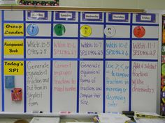 This is my assignment board for the entire week!