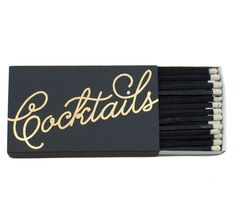 Celebrate with this adorable Cocktails Matchbox $10