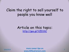 Can be hard when you know the interview panel - but that's no excuse to avoid selling yourself. Job Interview Tips, When You Know, Things To Sell