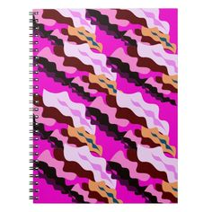 Design wild pink Camouflage lines Notebook Custom Office Party #office #partyplanning