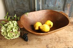 c 567 antique handcarved WOODEN DOUGH BOWL cottonwood by grainsack on Etsy