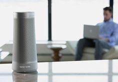 Harman Kardon Invoke – Voice Activated Speaker with Cortana Microsoft Cortana, Echo Speaker, Harman Kardon, High Tech Gadgets, Smart Technologies, Amazon Echo, Audio, Deep, Technology