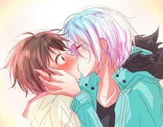 Kuro -- Sleepy Ash & Mahiru Shirota kiss ^~^