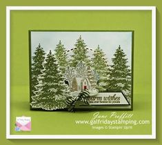 Beautiful Christmas Cards, Card Making Supplies, Wood Stamp, Walk In The Woods, Winter Cards, Card Tutorials, Masculine Cards, Stamping Up, Creative Cards