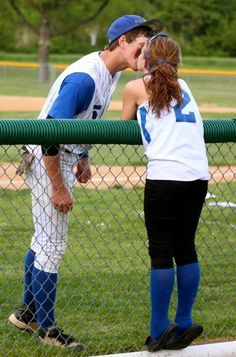 This picture would be so cute for softball & baseball player couples <3