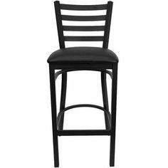 Flash Furniture XU-DG697BLAD-BAR-BLKV-GG HERCULES Series Black Ladder Back Metal Restaurant Bar Stool with Black Vinyl Seat by Flash Furniture, http://www.amazon.com/dp/B002NS2ZKK/ref=cm_sw_r_pi_dp_k9B-rb0Y36RCR