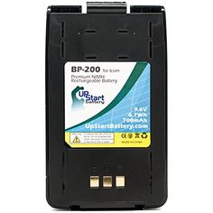 Icom BP-200L Battery with Clip - Replacement Icom Two-Way Radio Battery (700mAh, 9.6V, NI-MH) ***  Please note: This is an UpStart Battery brand replacement part, not an OEM product. This product is not affiliated with any OEM brands and is not covered under any warranties offered by the original manufacturers. Any warranties for this product are offered solely by Upstart Battery. All mentions of brand names or model descriptions are made strictly to illustrate compatibility.