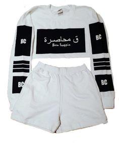 Cropped Sweatsuit (WHITE) Cropped White Shirt, White Shirts, Crop Shirt, Hood By Air, High Street Brands, White Tops, Adidas Jacket, Crop Tops, Sweatshirts