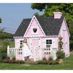 If I had a little girl, I would so build this for my little princess!, though I would paint it blue or green and not have the heart to make it more all kids friendly