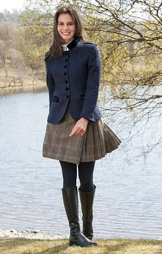 Ladies Short Tweed Kilt - House of Bruar