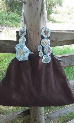 Taška s pásikavými kvietkami / lienka97 - SAShE.sk - Handmade Veľké tašky