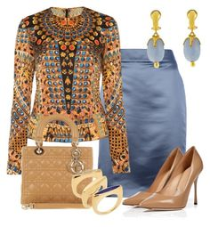A fashion look from November 2015 featuring Temperley London, Armani Collezioni and pointy toe shoes. Browse and shop related looks. Modest Fashion, Skirt Fashion, Fashion Dresses, Classy Outfits, Stylish Outfits, Magazine Mode, Business Casual Attire, Fashion Looks, Fashion Tips