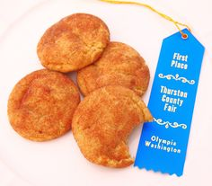 Blue Ribbon Snickerdoodles - These cookies won me the blue ribbon at the county fair!