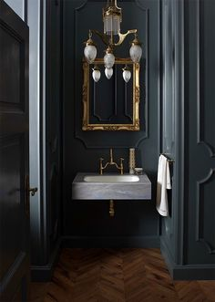 dark bathroom ideas - Google Search