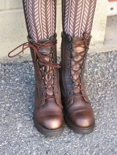 Steam Punk Military Steeltoe Boots ladys small size by FourQueens, $75.00