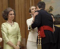 El rey Felipe VI y la infanta Elena.