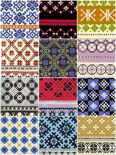 Latvian mitten patterns..