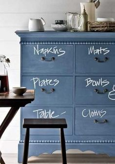Chalkboard paint decor - Photo credit: Scott Hawkins