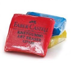 Faber-Castell Kneaded Art Erasers are perfect for correcting charcoal, pencil and pastel work. They are very malleable, absorbent and leave no residue behind.