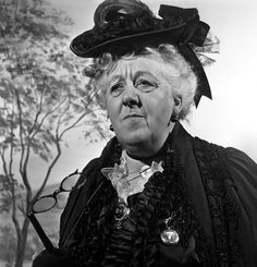 Dame Margaret Rutherford as Miss Marple Margaret Rutherford, Mystery Film, Mystery Series, Miss Marple, Best Mysteries, Cozy Mysteries, British Actresses, British Actors, Agatha Christie