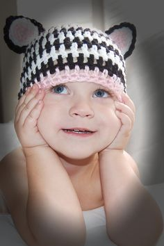 Zebra crochet hat :)