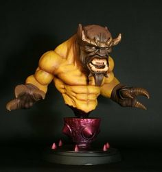 Bowen Designs - Marvel Bust Mangog 24 cm by Bowen Designs. $389.29. Sideshow Collectibles is proud to present the outstanding Marvel statues and busts created by Bowen Designs. These high-quality polystone, detailed collectibles feature your favorite Marvel characters as they appear in a wide range of comics.The Mangog Mini-bust stands over 24 cm high. Each bust is intricately sculpted and cast in high-quality polystone, a great addition to any Marvel collection!