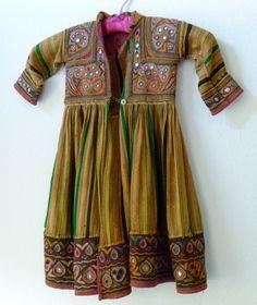 Antique SHISHA Child's Coat/Dress Tribal Textile MidEast, Persia, India or Pakistan/Mica Embroidered