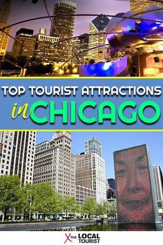 Explore the top tourist attractions in Chicago, from the oldest aquarium in the U. to not one, but two observatories. Usa Travel Guide, Travel Advice, Travel Usa, Travel Tips, Globe Travel, Travel Guides, Visit Chicago, Chicago Travel, Attraction