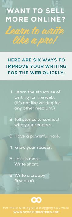 *Web Copy Resource* Pin these six web copy tips and enhance your writing skill set as your small business grows.