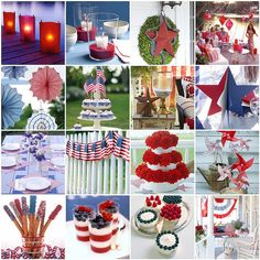 Memorial Day, 4th of July, Summer party/decorating ideas