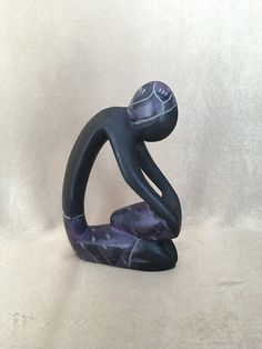 Abstract Sculpture Carved Soapstone Washer Woman by DotnBettys