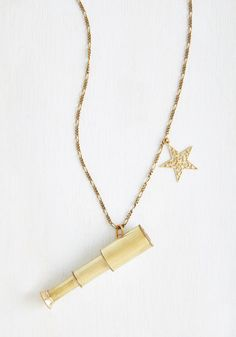 In the Distance Necklace - Casual, Gold, Solid, Scholastic/Collegiate, Gold, Quirky, Press Placement, Cosmic