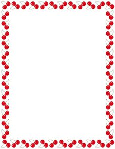 Printable cherry border. Use the border in Microsoft Word or other programs for…