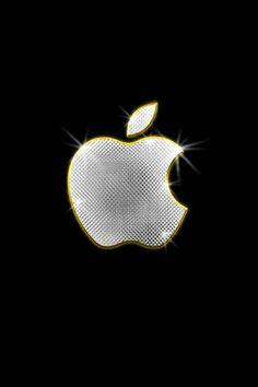 iPhone Wallpaper Apple Logo Bling