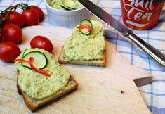 cuketová pomazánka na hrianky No Salt Recipes, Avocado Toast, Eggplant, Guacamole, Zucchini, Good Food, Food And Drink, Healthy Recipes, Vegan